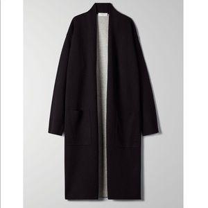 BABATON (aritzia) Lance black long cardigan size M